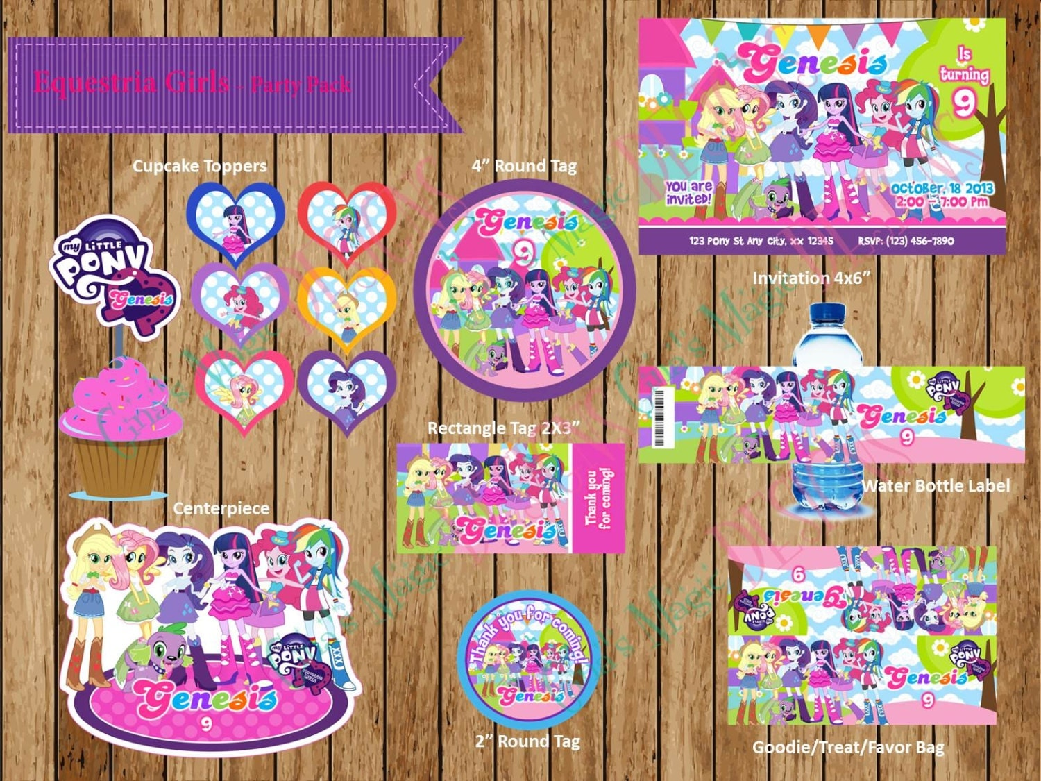 Equestria Girls - Personalized Birthday Party Package, Equestria Girls ...
