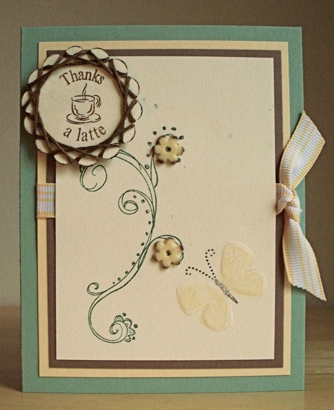 Handmade Thank You Card Stampin Up Doodle This