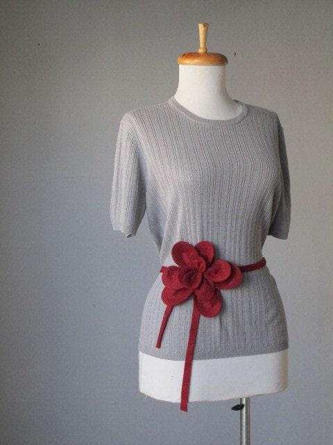 Top / Gray / Knit / Classy / Vintage / FREE GIFT - StudioNostalgia