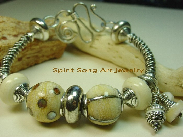 Tribal Princess Sterling Silver Wire-Art  Bangle Bracelet by spiritsongartjewelry from etsy.com