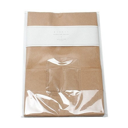 20 natural paper bags with Window
