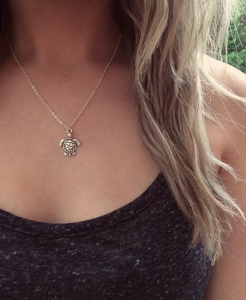 NEW Turtle Necklace Silver Turtle Necklace Turtle Choker Beach Choker Turtle Jewellery Mermaid Jewelry Boho Holiday Necklace