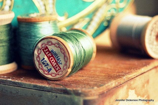 Vintage Thread Series 1 Metallic Fine Art Photograph