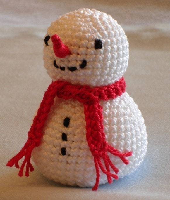 Crochet Patterns Free Snowman : Snowman Crochet Pattern PDF by katrinchen on Etsy