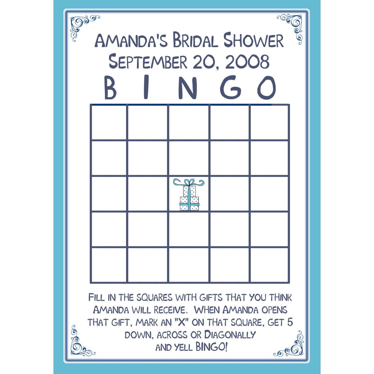 bridal shower bingo template printable printable bridal request a custom order and have something made just for you