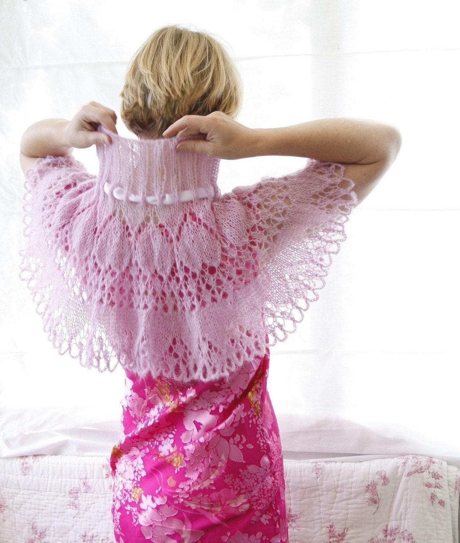 Etsy Knitting Patterns : Lacy Capelet Victoria PDF knitting pattern by byEline on Etsy