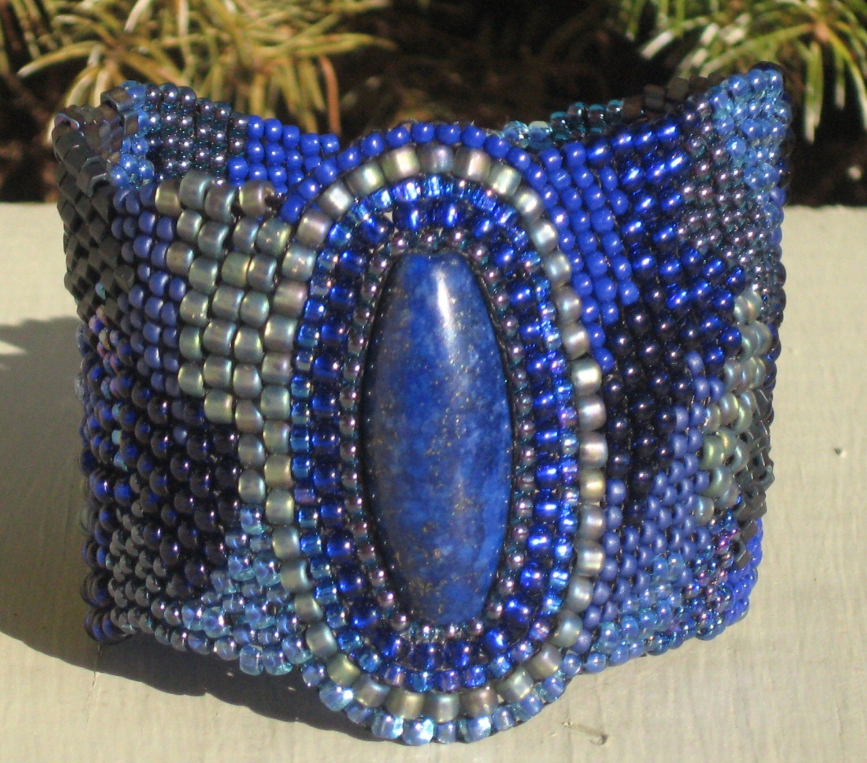 Lapis Brick Road Freeform Bracelet