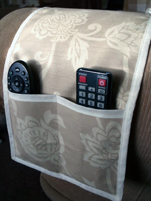 remote control caddy remote holder mobile phone holder organizer for arm chair or sofa 30 x 10