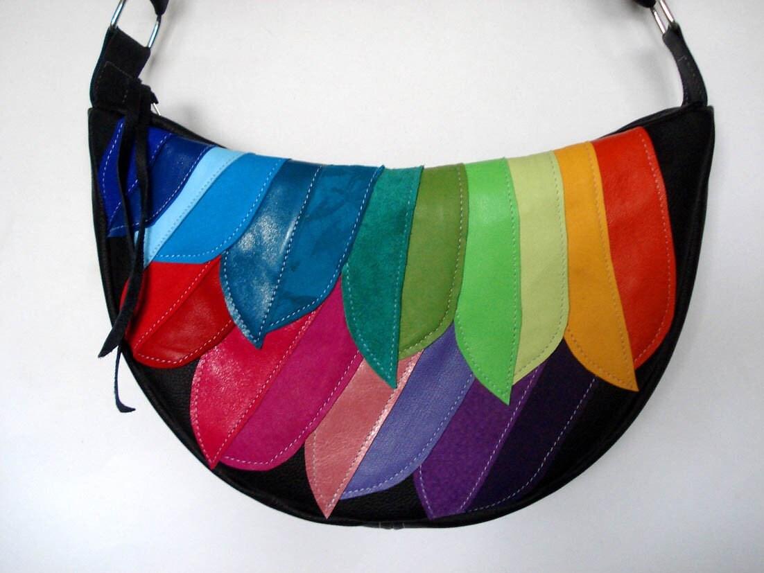 Appliqué leather bag shopstyle canada