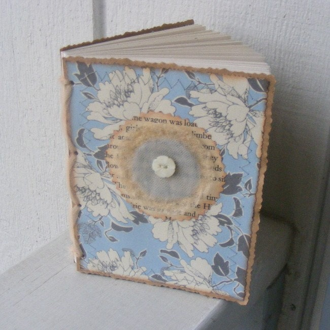 Lovely floral, upcycled, recycled Journal