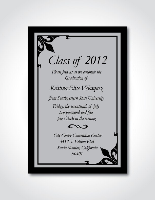 Graduation Invitation Sayings as best invitation sample