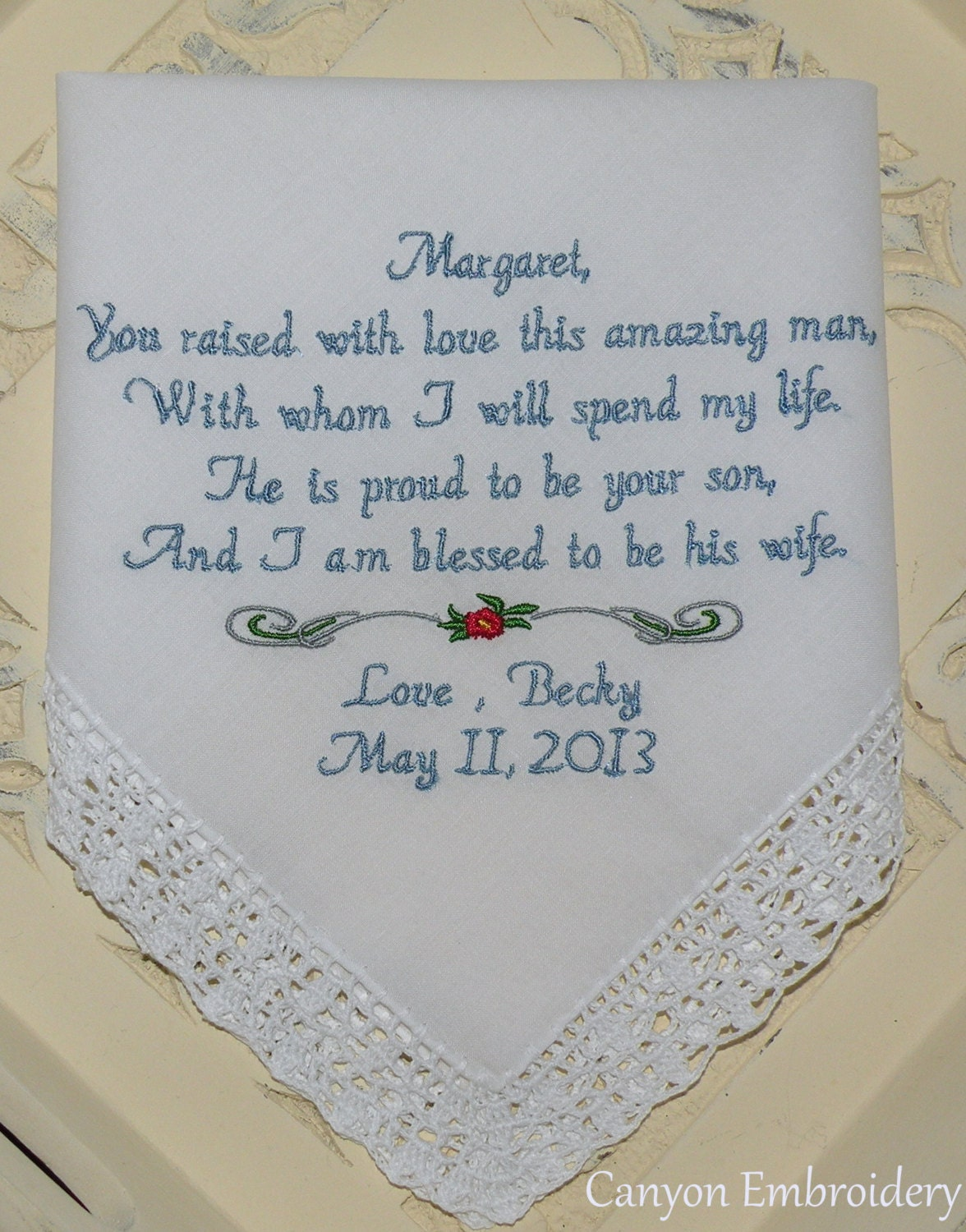 Mother Of The Groom Embroidered Wedding By Canyonembroidery