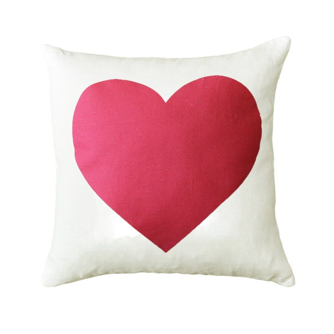 Pink Heart Throw Cushion Cover 18 x 18 inch - ZanaProducts