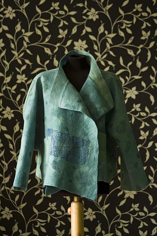 Jacket felted TURQUOISE 'Motton blue'