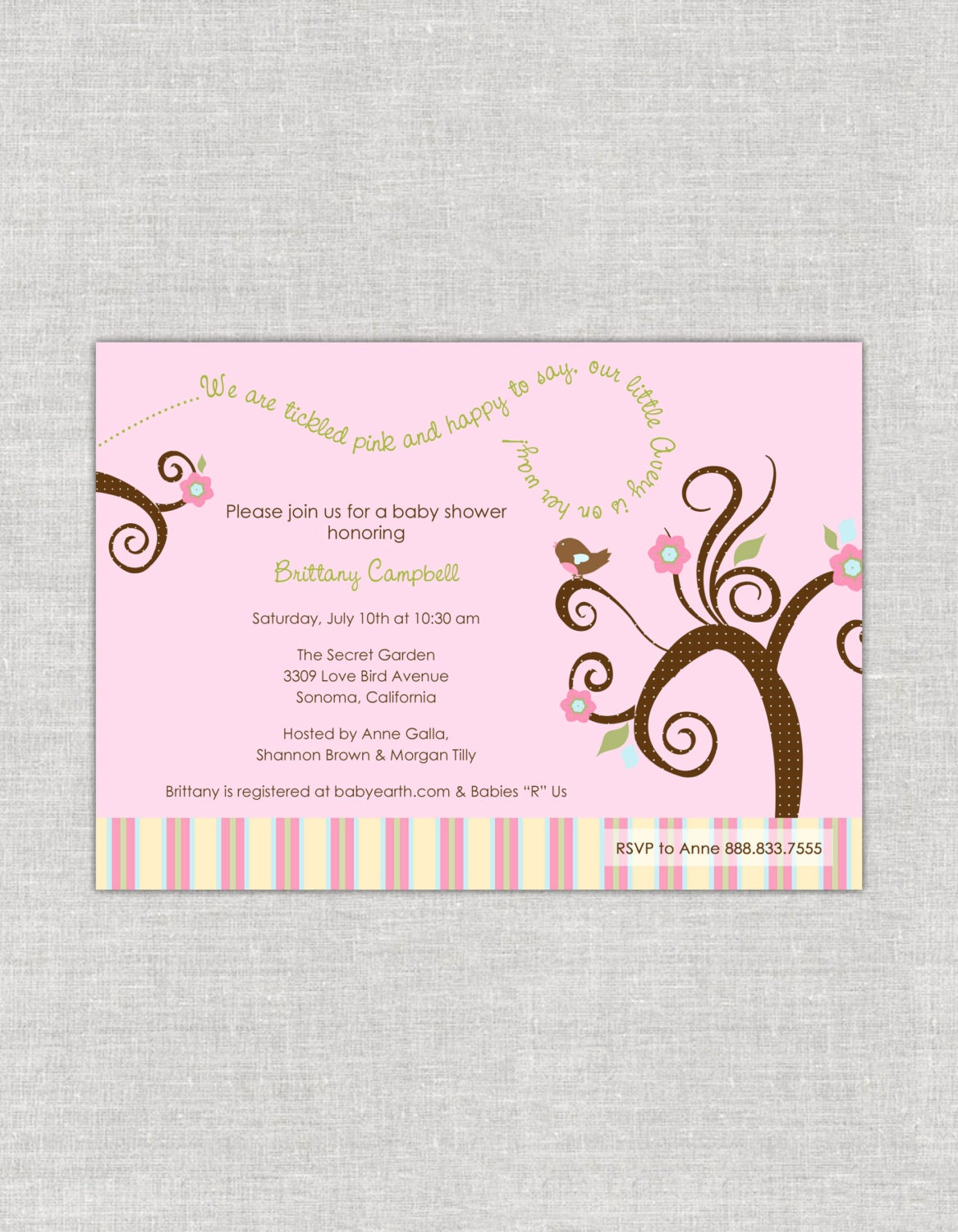love bird baby shower invitation by paperimpressions on etsy