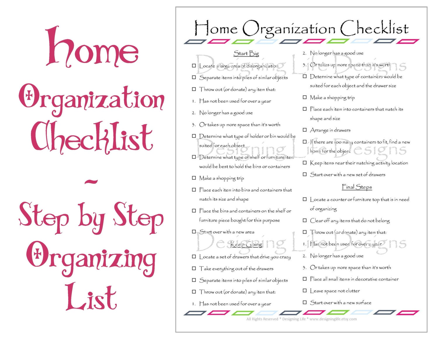 It's just a picture of Lucrative Organized Home Printables