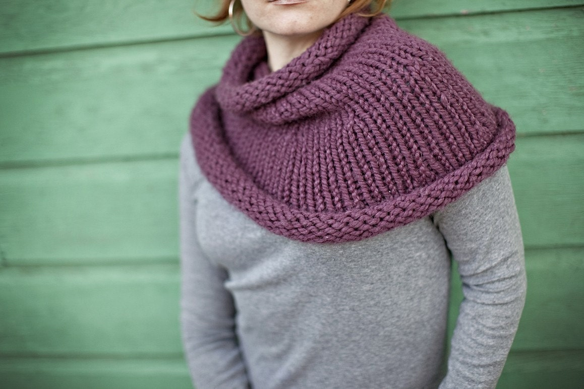 Cozy  Cowl in Eggplant