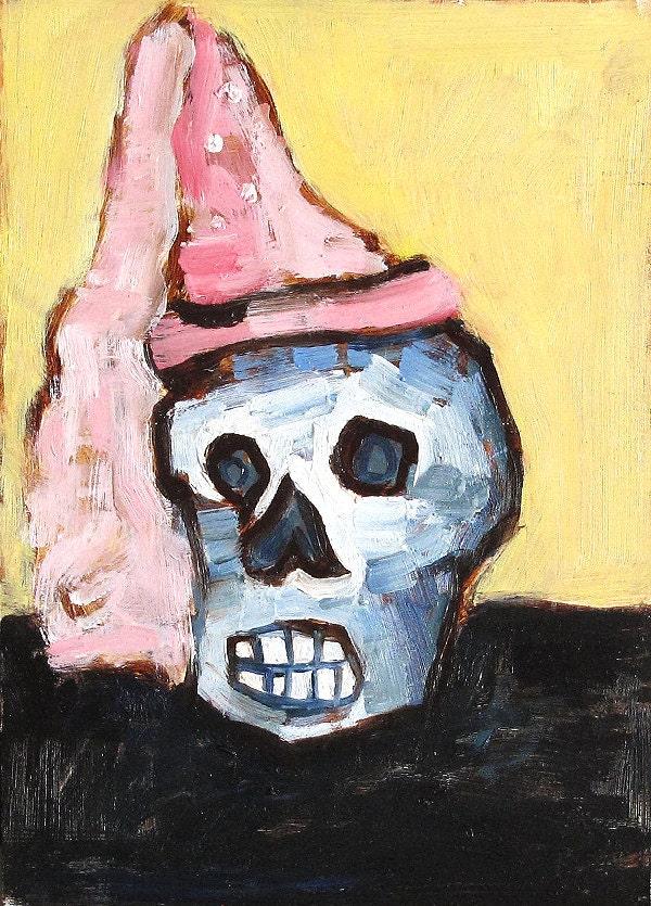 Skull Still Life Painting