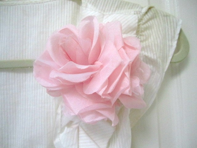 Handmade  Ballerina Pink  Flower  Corsage by SnobishDesign on Etsy