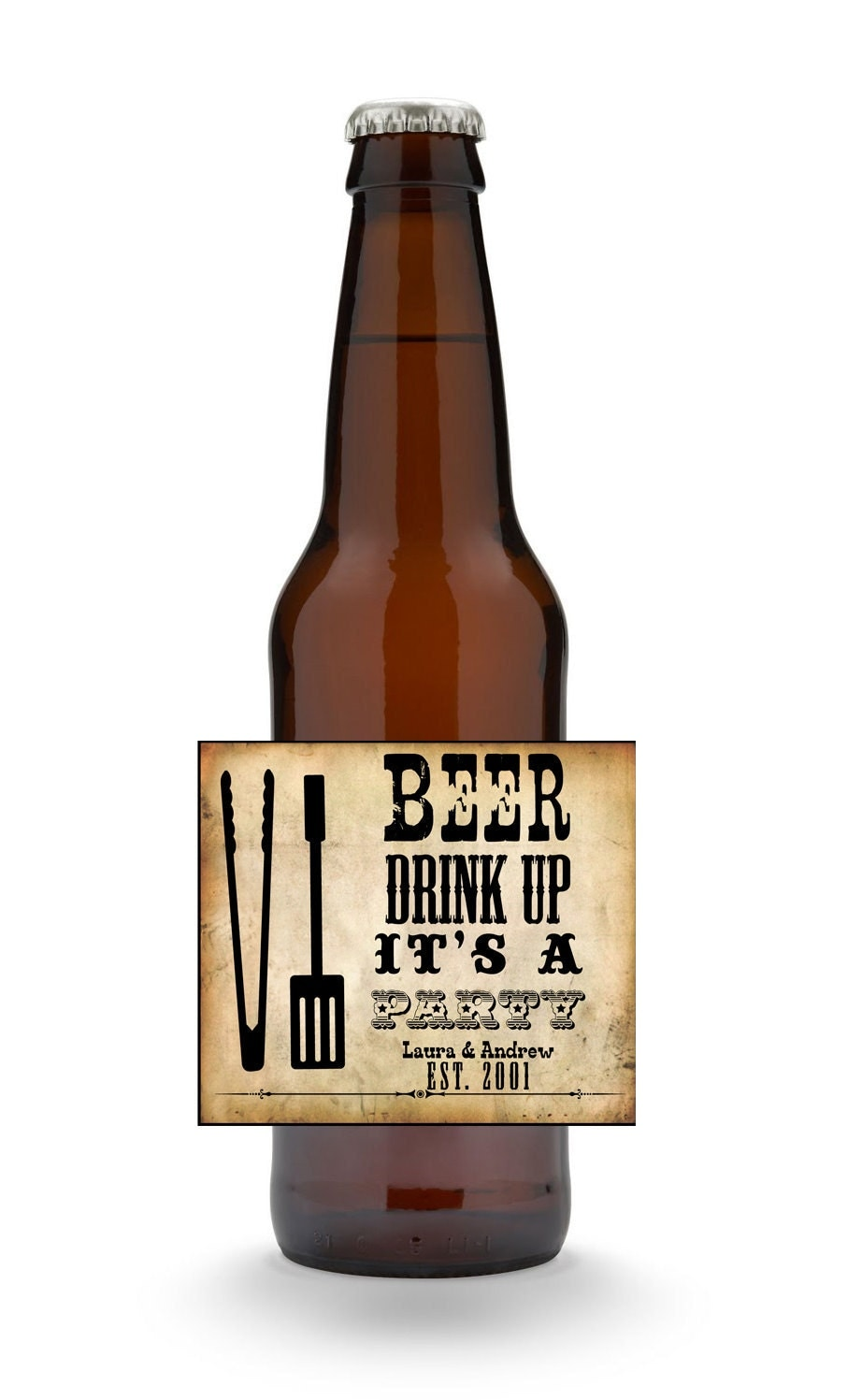 Crazy image pertaining to printable beer bottle labels