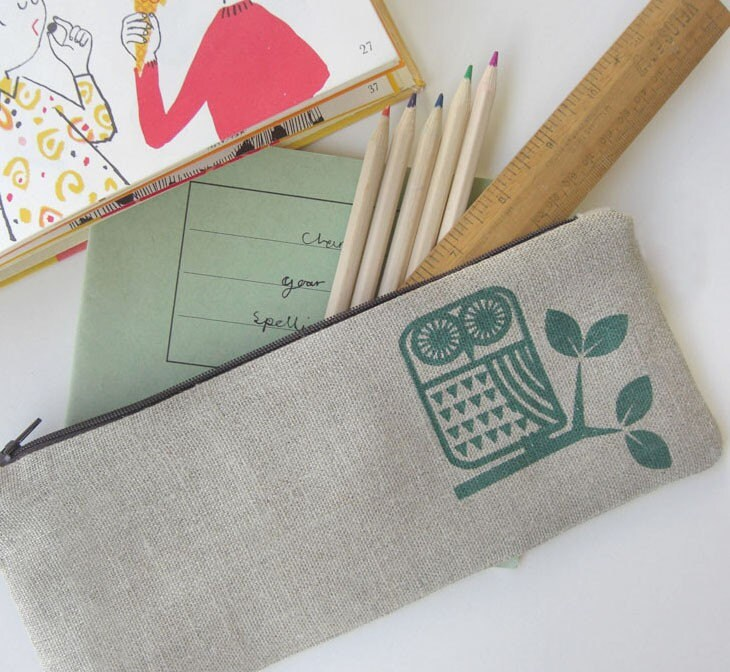 little owl pencil case