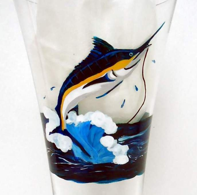 Unavailable listing on etsy for Painted glass fish
