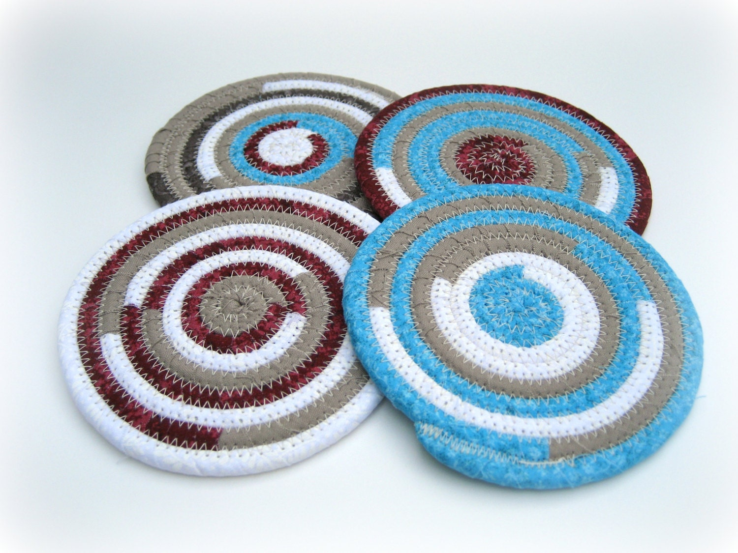 Items similar to drink coasters handmade colorful sturdy for Handmade drink coasters