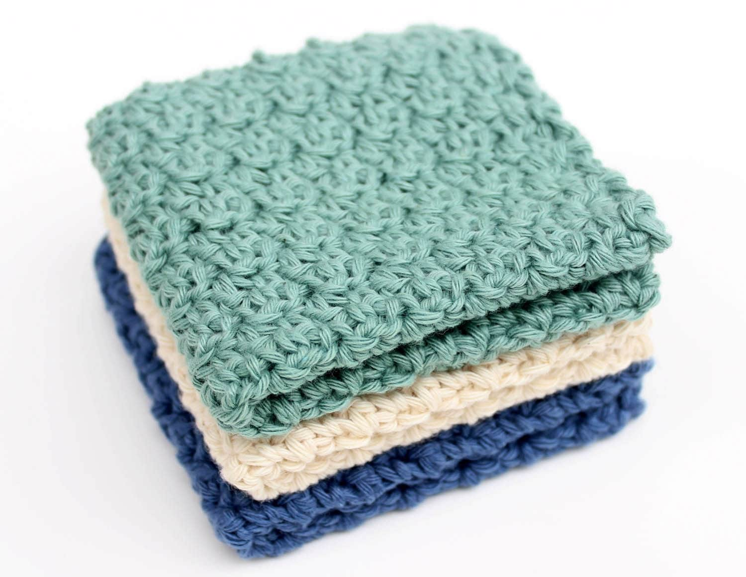 Crochet Washcloth Pattern : Crochet Pattern Washcloth - Do it yourself - Instant Download PDF