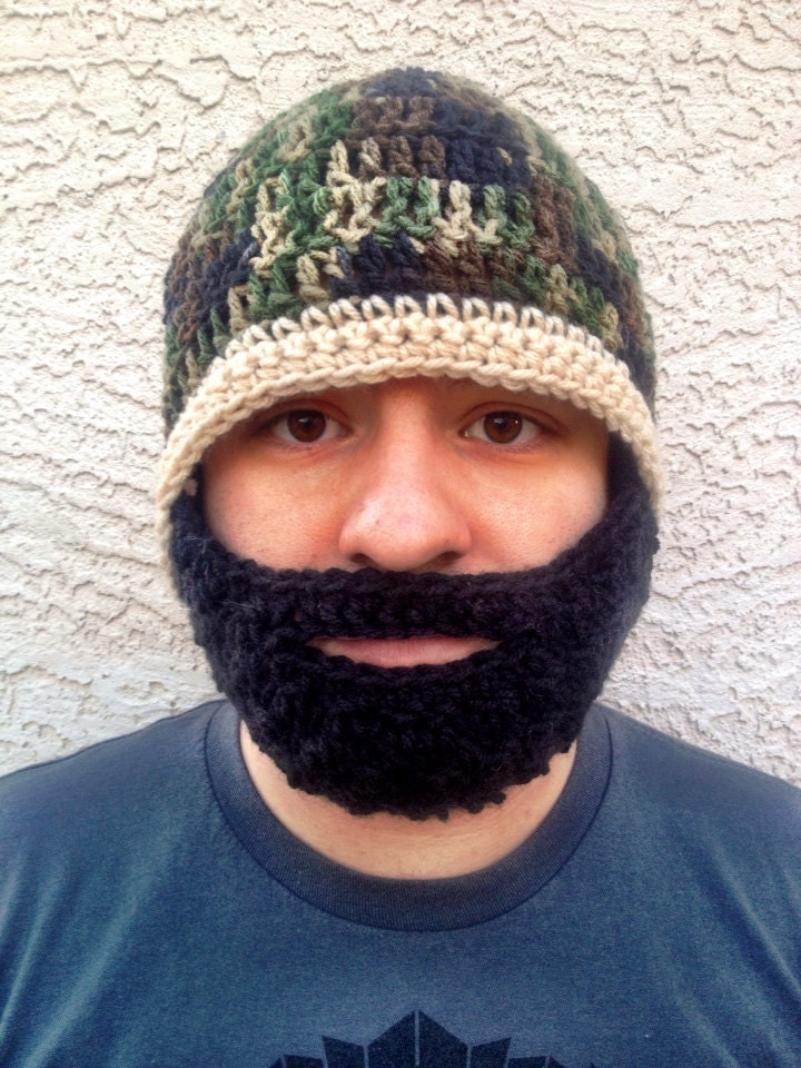Crochet Pattern For Mens Beanie With Beard : Unavailable Listing on Etsy