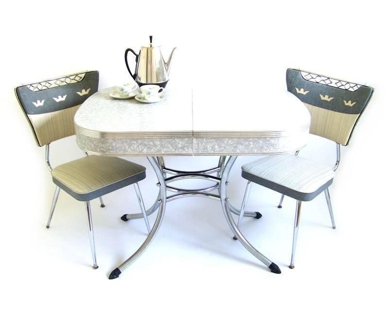 RESERVED Vintage Dinette Set Formica Kitchen By Stonesoupology