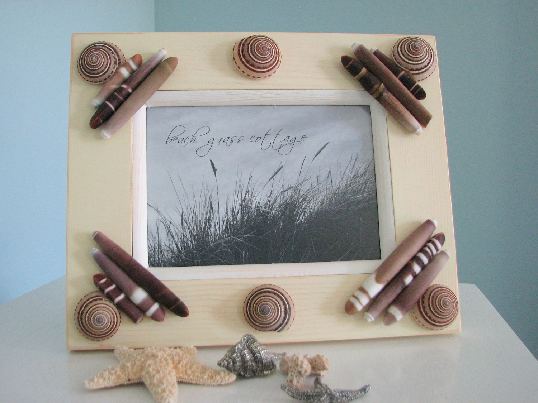 Seashell Frame - Мужского Frame Shell Идеально подходит для подарка для мужчин, 5x7