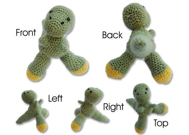 Handmade Crochet T-Rex