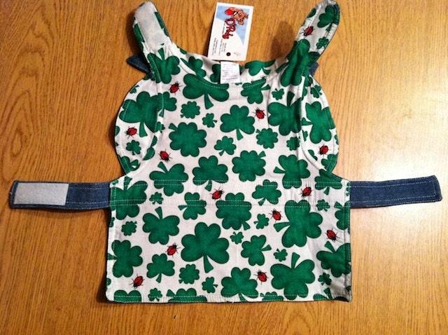 TRENDY St. Patrick's Day Denim Shamrock Coat for Cats & Dogs