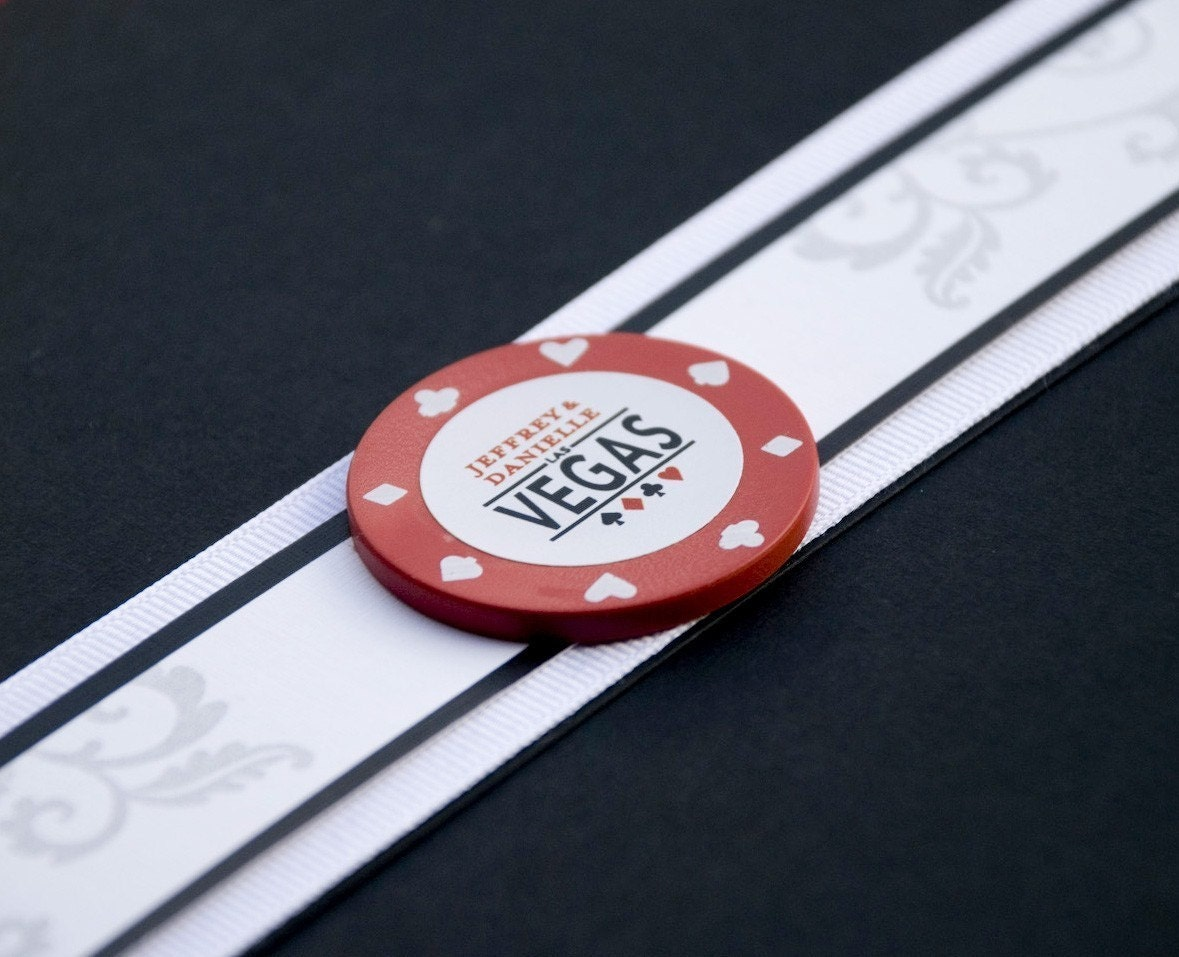 Deposit - Vegas Poker Chip Wedding Invitation (Pocket Fold)
