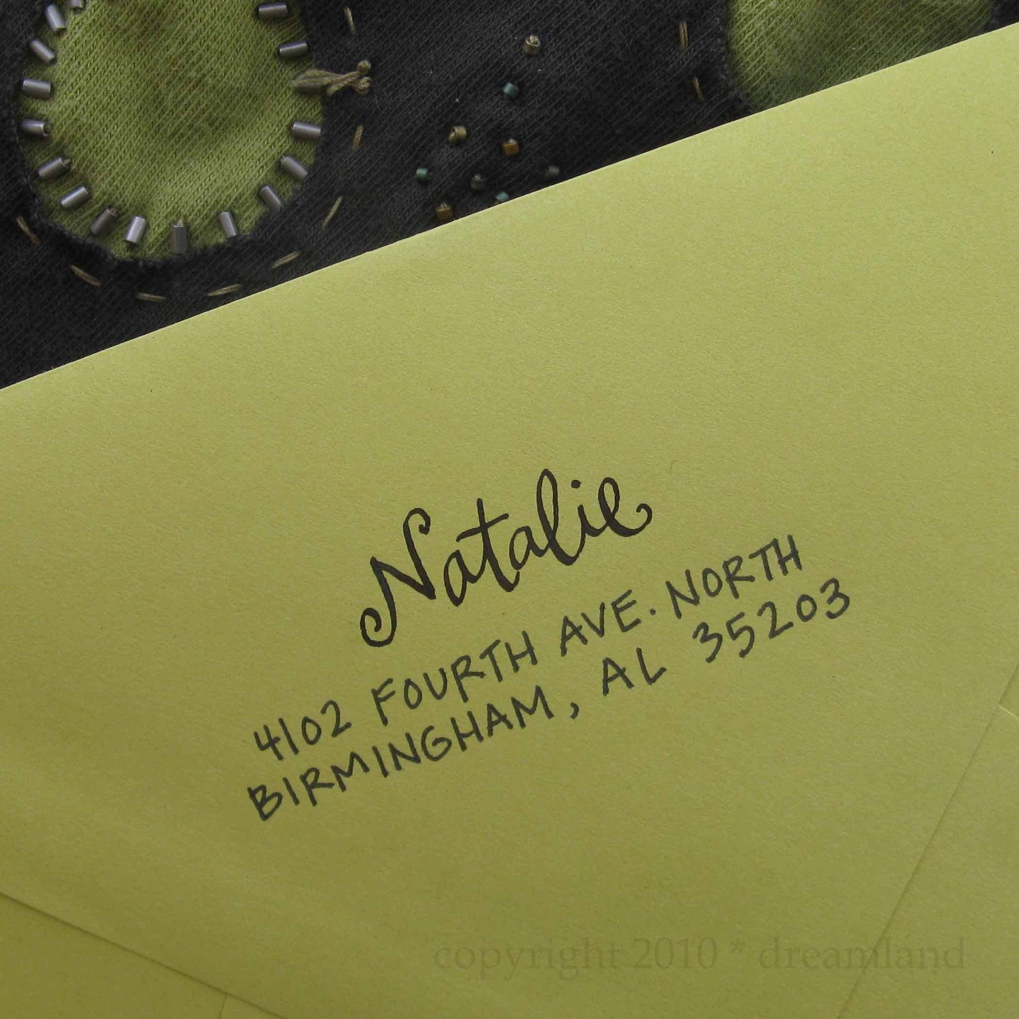 Natalie Address Stamp (Self-inking)