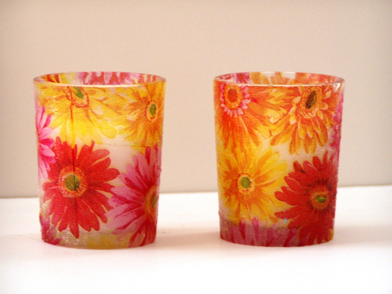 Etsy :: Spring Bouquet Votive Candles