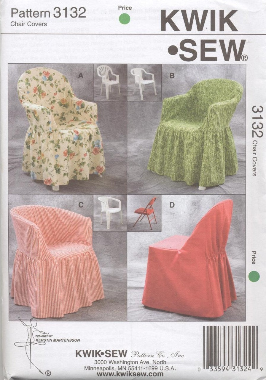 Patio and folding chair cover pattern in four by busybasket for Furniture cover sewing patterns