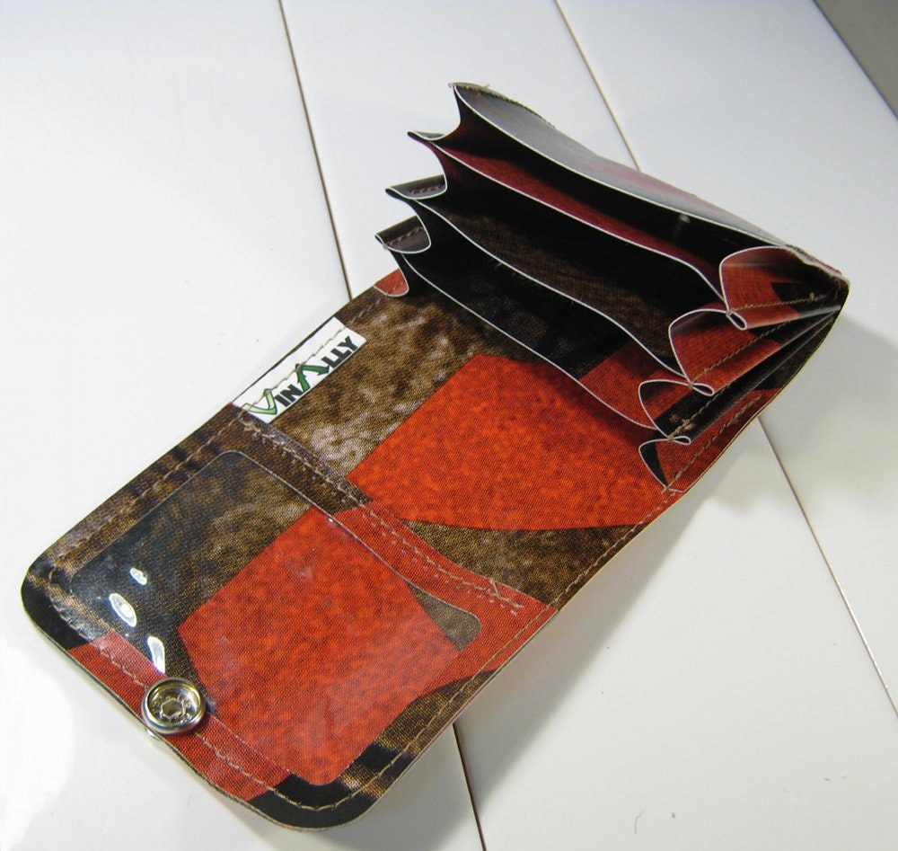 Card Organizer Wallet Recycled Billboard