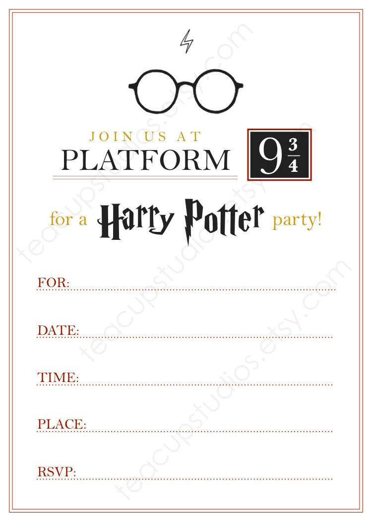 Terrible image throughout printable harry potter invitations