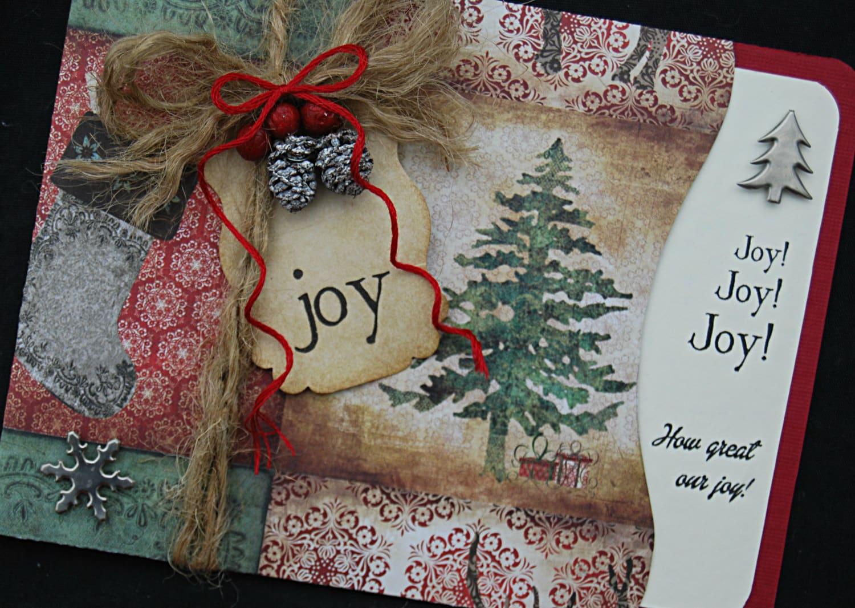 Christmas cards rustic elegant snowflake christmas card for Elegant homemade christmas cards