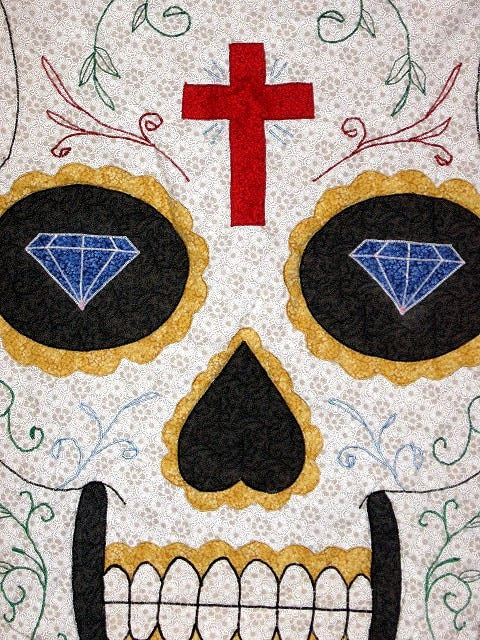 Sugar Skull Tattoo Quilt This is a