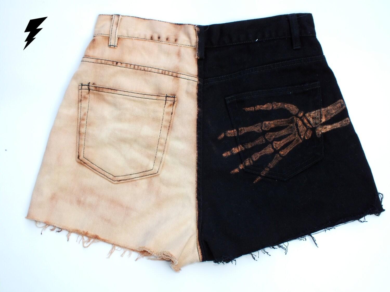 High Waisted Skeleton Shorts