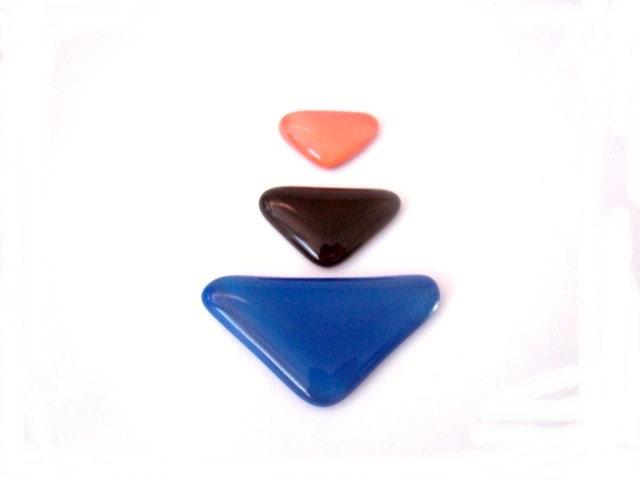Cabochon, Fused Glass, Differents Colors,Triangle - envidrio