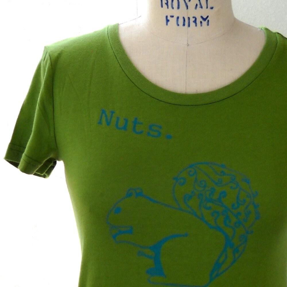 Nuts Squirrel Tee shirt sz M