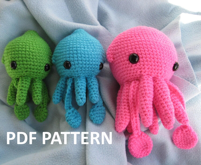 Squid Squidling Amigurumi Crochet Pattern by AwkwardSoul ...