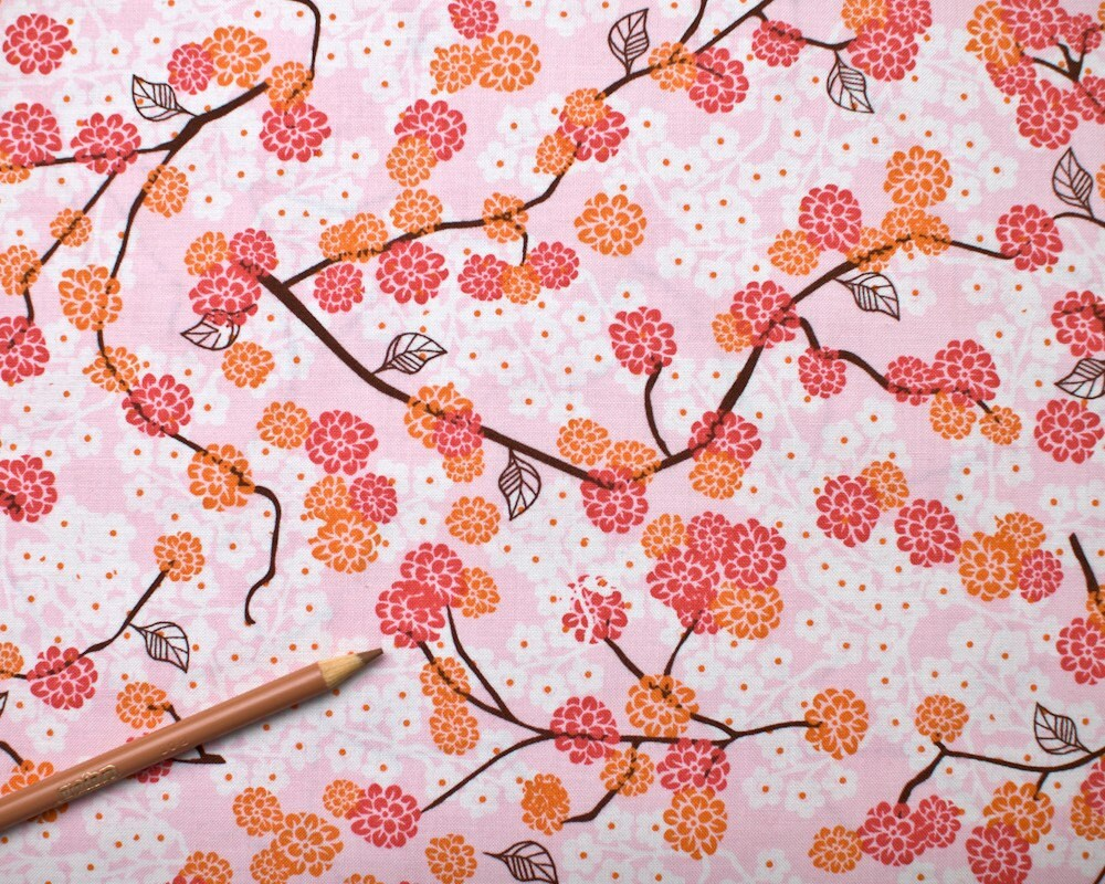 Cherry Blossoms: Pink by Studio E - 1 yard
