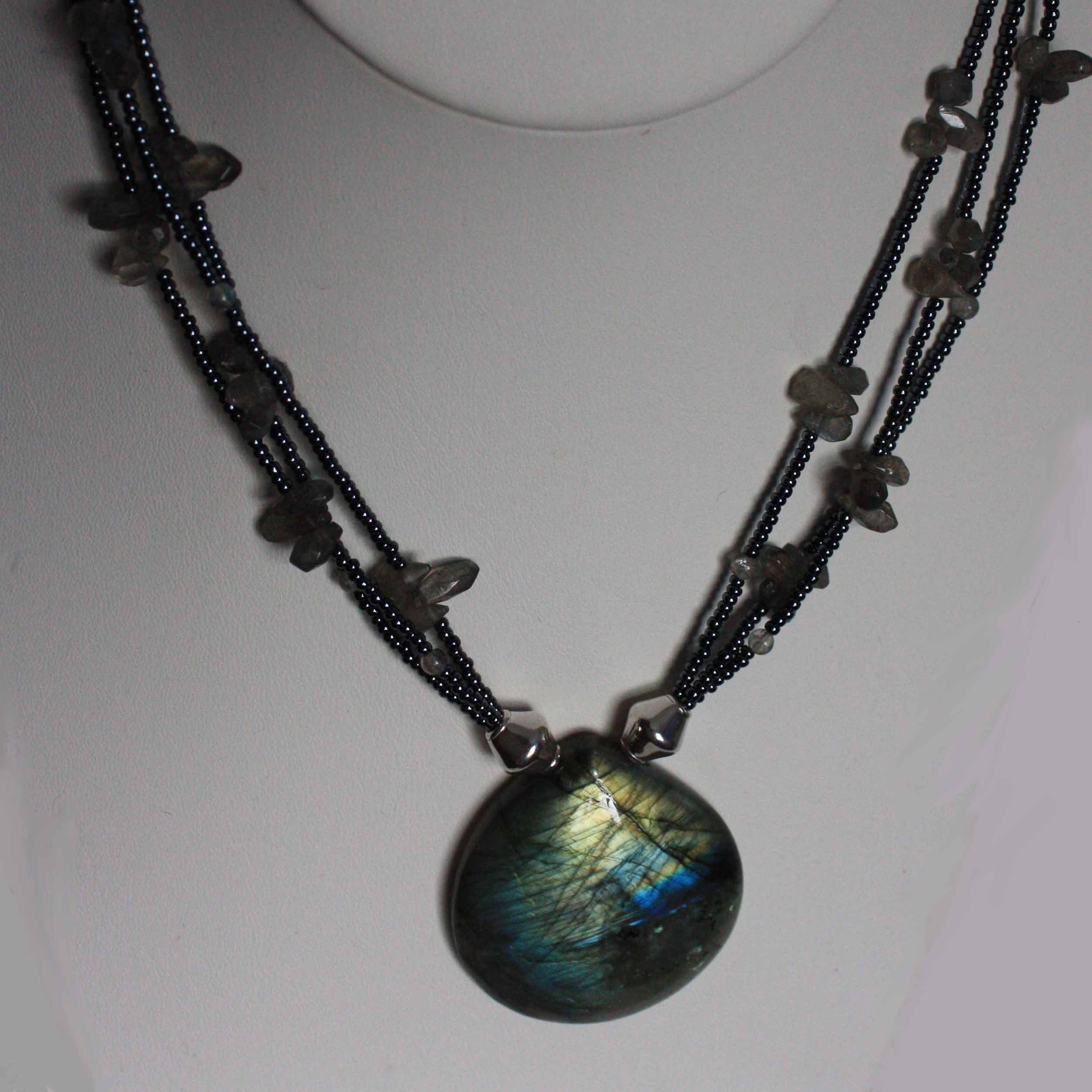 Handmade Labradorite Pendant Necklace Shine by capitalcitycrafts from etsy.com