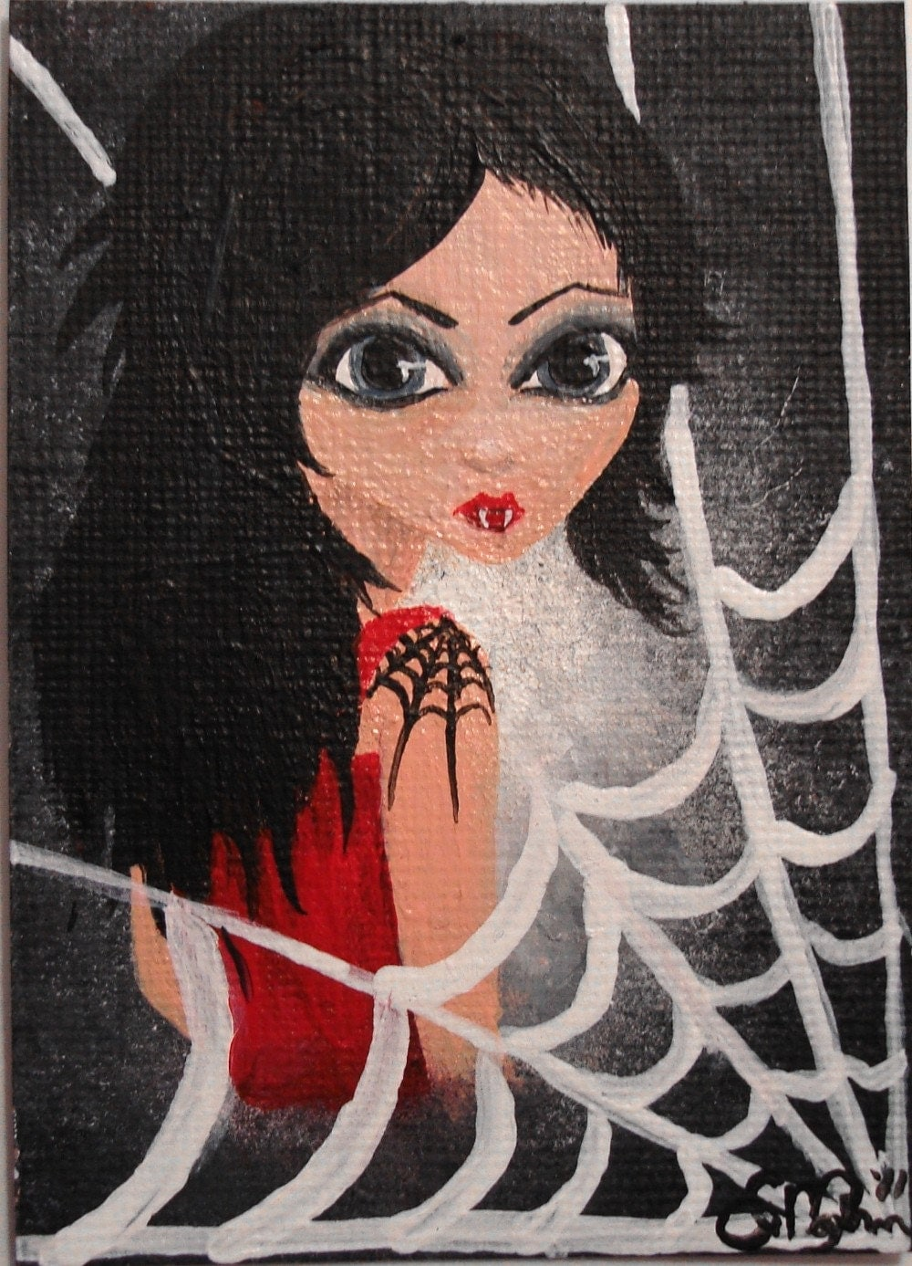 ACEO Original & One of a Kind  'A Love Story' No.20 of this Art Card Series