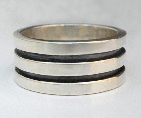 For  Him - Double Ray - Sterling Silver Mens Ring