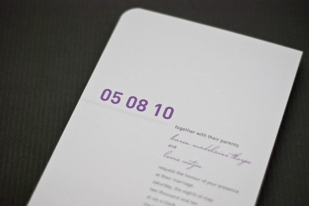 Modern and Minimalistic WEDDING INVITATION